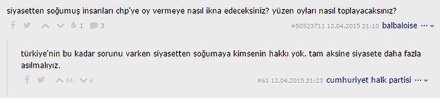 9. 'Türkiye'de bu kadar sorun varken siyasetten soğumaya kimsenin hakkı yok.'