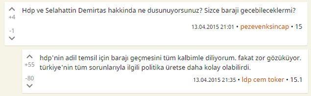 10. 'HDP'nin barajı aşmasını çok istiyorum, ama zor görünüyor.'