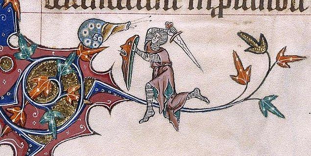 Bindiği Daldaki Salyangoza Saldıran Şövalye