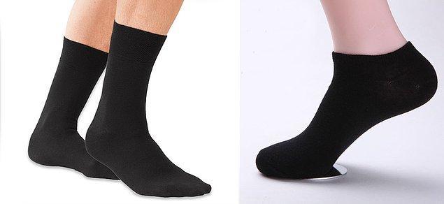 2. Uzun kışlık çorapların bir kenara bırakılıp, bilek çoraplara geçilmesi