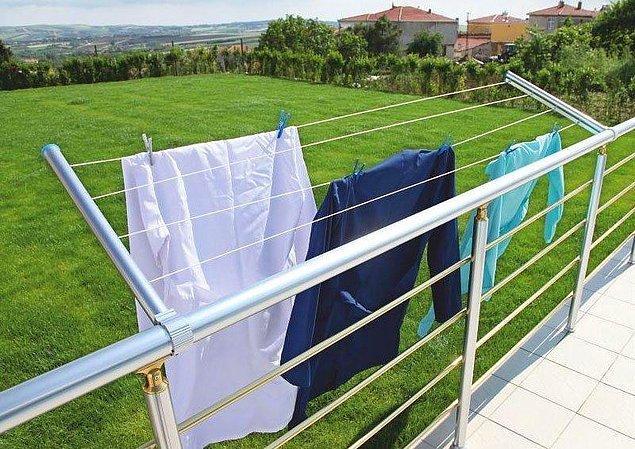 22. Balkona asılan çamaşırların 2 saatte kuruması