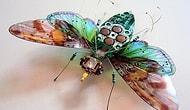 Eski Bilgisayar Devre Kartlarıyla Yapılmış 15 Böcek Figürü