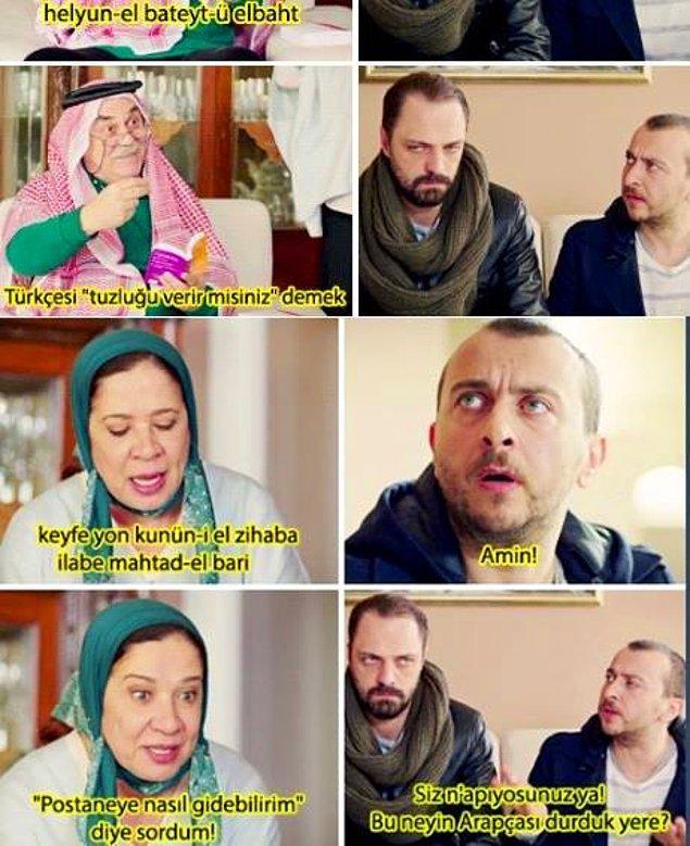 13. Bu neyin Arapçası durduk yere?