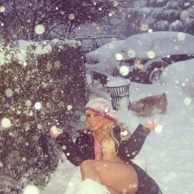 """5. Herkesin Bi """"Kar"""" Fotoğrafı Oldu."""