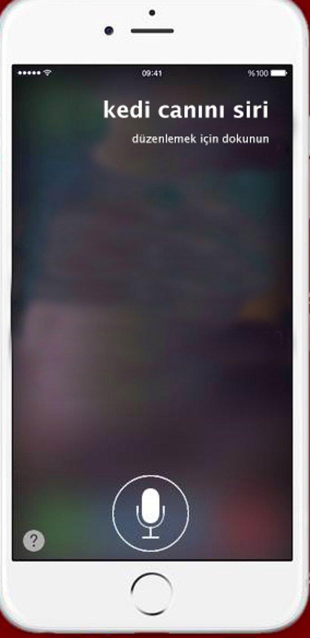 16. Siri'yi Taciz Ettik.