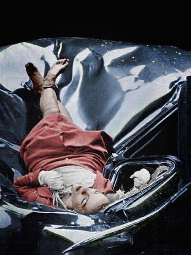 5. 23 yaşındaki Evelyn McHale'nin Empire State binasından atladıktan sonra, Birleşmiş Milletler'e ait bir limuzine düşmüş, Bazıları bu fotoğrafa dünyanın en güzel intiharı demiş.