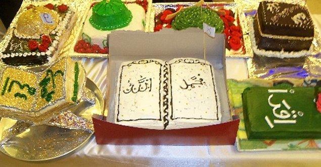 7. Kermesten kutlu doğuma özel pasta