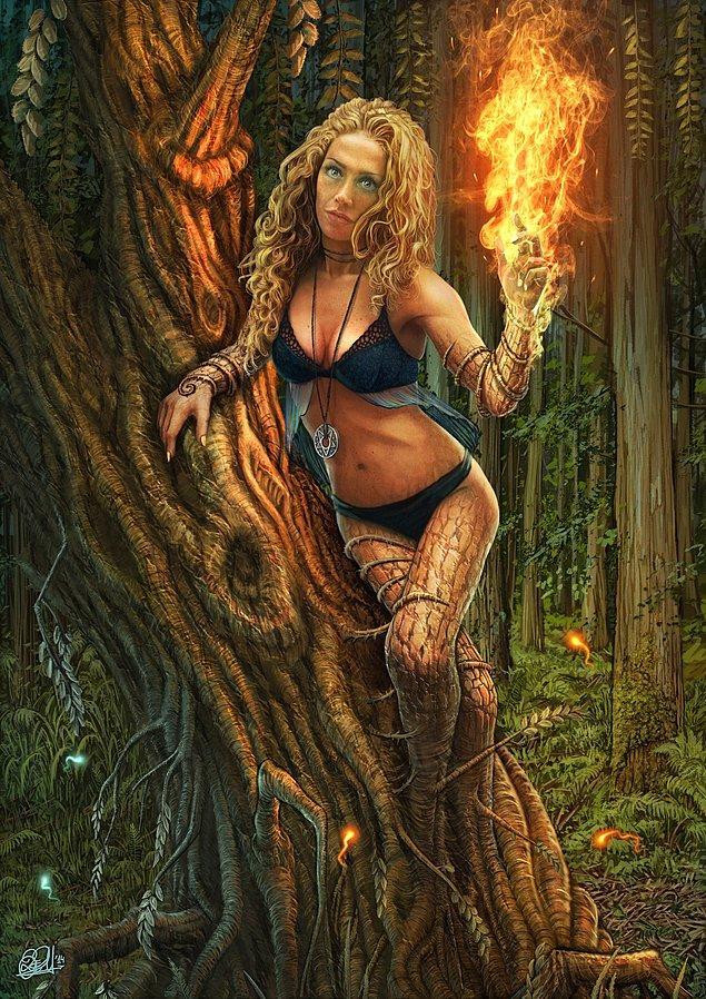 Dryad in flames - Alevler İçindeki Orman Perisi