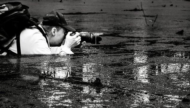 2. Beklemediğin bir anda, kendini sular içinde fotoğraf çekerken bulabilirsin.