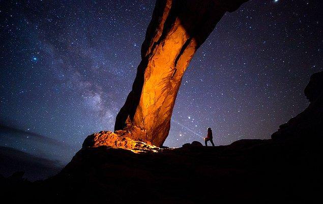 10. Geceyi Aydınlatmak (Arches Ulusal Parkı, ABD)