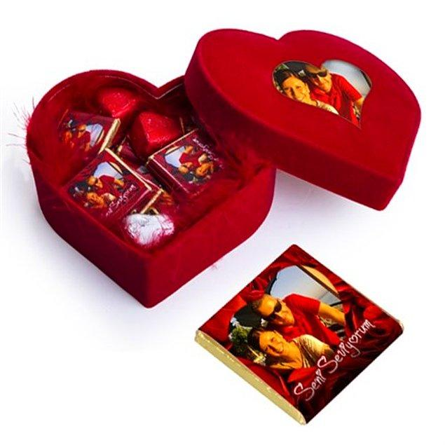 Kalp Kutuda Güllü Çikolatalar