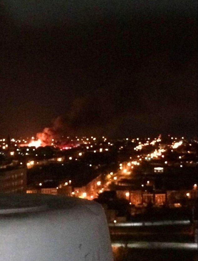 Bu gece Baltimore'un son durumunu gösteren bir kare
