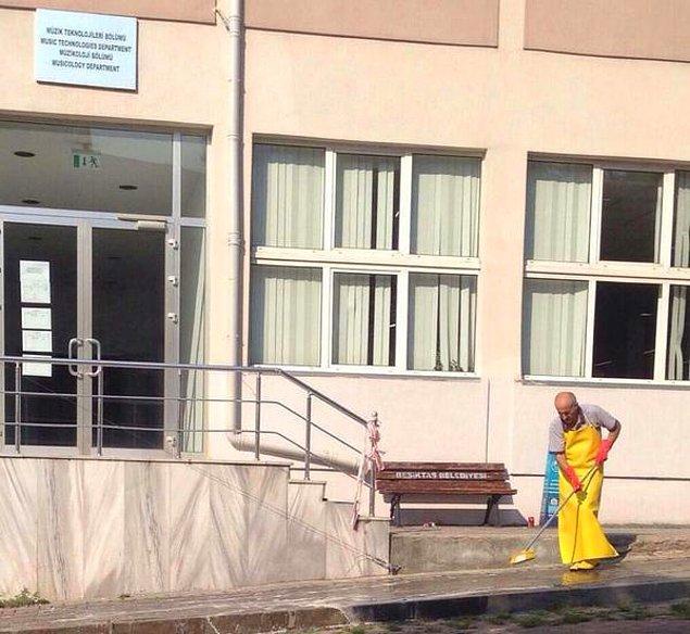 6. İş sonrası temizlik yaparken
