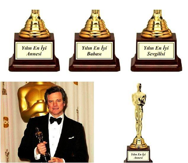 Oscar Ödülü - Kişiye Özel Yazılı Büyük Boy