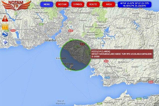 İstanbul semalarında uçuş yasağı