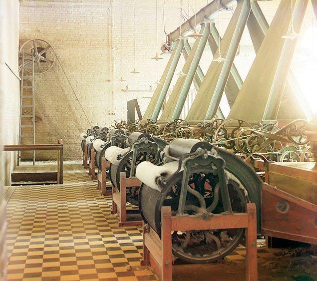 6. Türkmenistan Baýramaly'de (Bayram-Ali) pamuk ipliği fabrikası (1911)