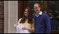 Kraliyet  Cambridge Düşesi Dünyaya Yeni Gelen Prensesi İnsanlara Gösterdi