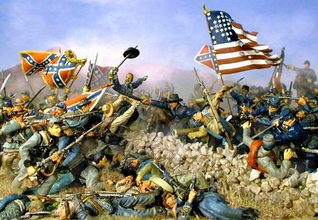 2. Amerikan iç savaşı sırasında Amerikan nüfusunun %2.5'u helak olmuştur.