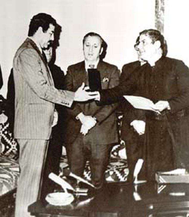 6. Saddam Hüseyin'e Detroit kentinin altın anahtarı verilmiş idi.