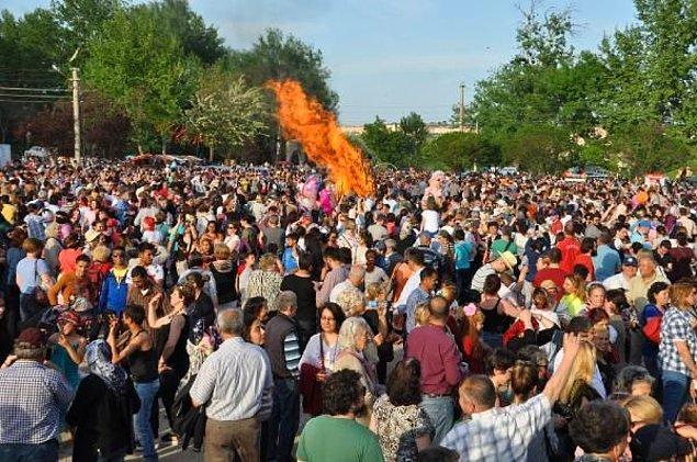 Edirne'de 'Kakava' coşkusu