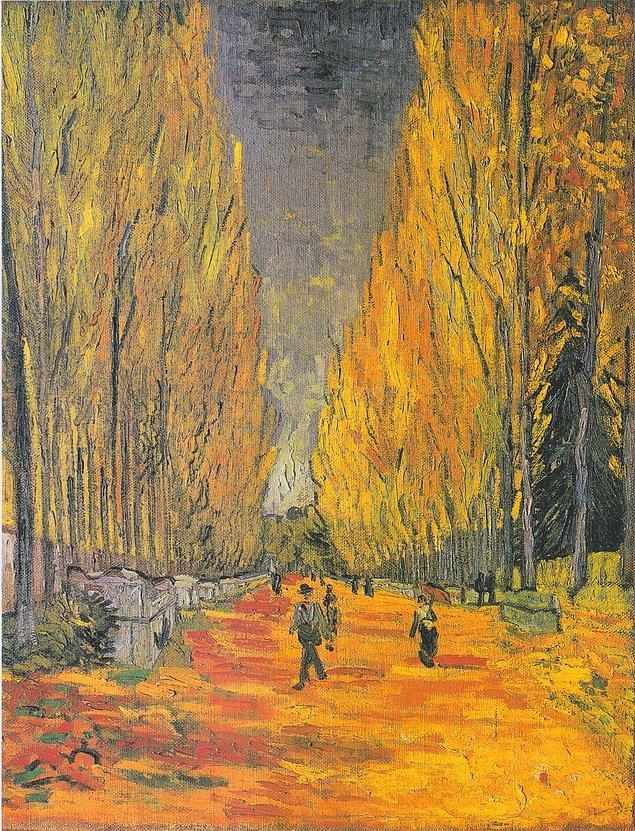 """Hollandalı ressam Vincent Van Gogh'un """"L'Allee des Alyscamps"""" adlı eseri New York'taki müzayedede 66 milyon 300 bin dolara satıldı."""