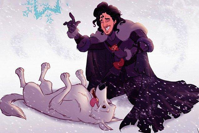 7. Jon Snow ve Ghost