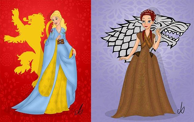 22. Cersei Lannister ve Sansa Stark