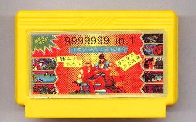 34. Hepimizin bir zamanlar içinde 999.999 oyun olduğunu sandığımız kasetler.