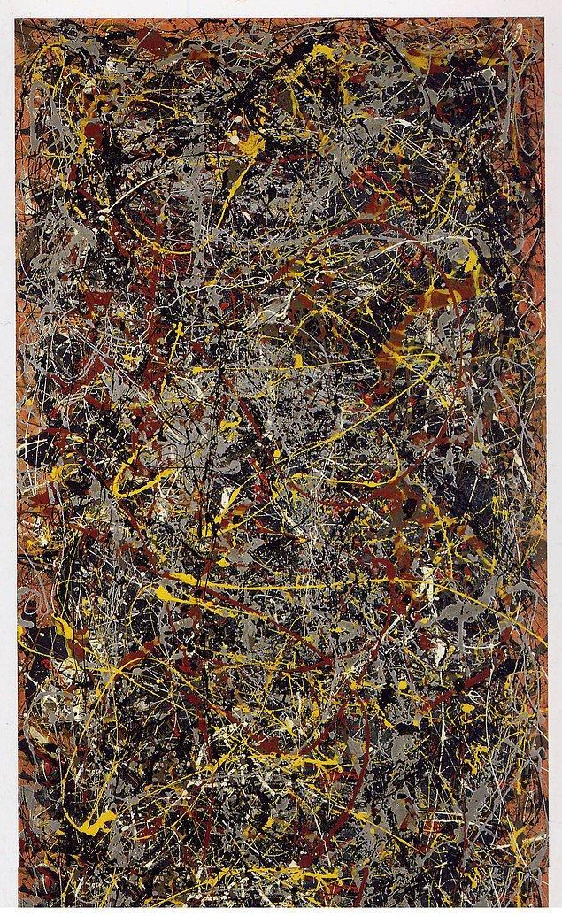 Jackson Pollock, No.5,1948, 1948, kontrplak üzerine yağlı boya, 2.4x1.2 m