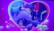 Kiss Cam'de heyecanlanan sakar kız