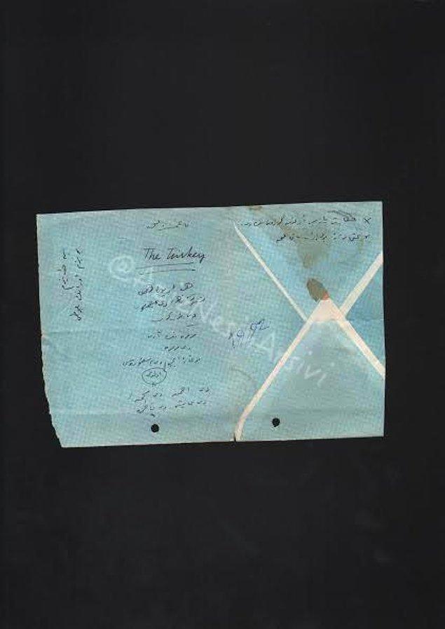 19. Nesin, defter kullanmazdı. Bir zarf içi onun için yeterliydi. Eğer tersyüz edip tekrar zarf olarak kullanmayacaksa...