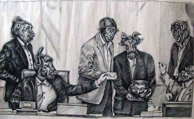Atena Farghadani de tepkisini bu karikatürle gösterdi