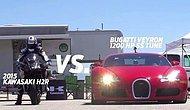 Kawasaki Ninja H2R, Bugatti Veyron'a Karşı