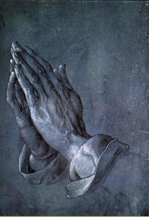 1. Bir çift elin trajik hikayesi; Albrecht Dürer - Dua Eden Eller