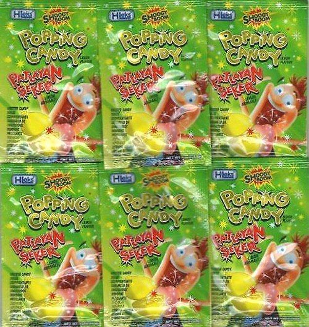 6. Patlayan şeker