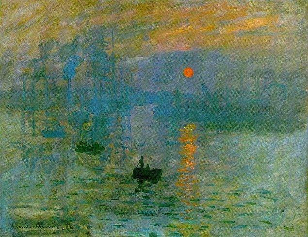 5. Claude Oscar Monet - İzlenim Gün Doğumu