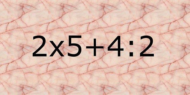 13. İşlemin sonucu kaçtır?