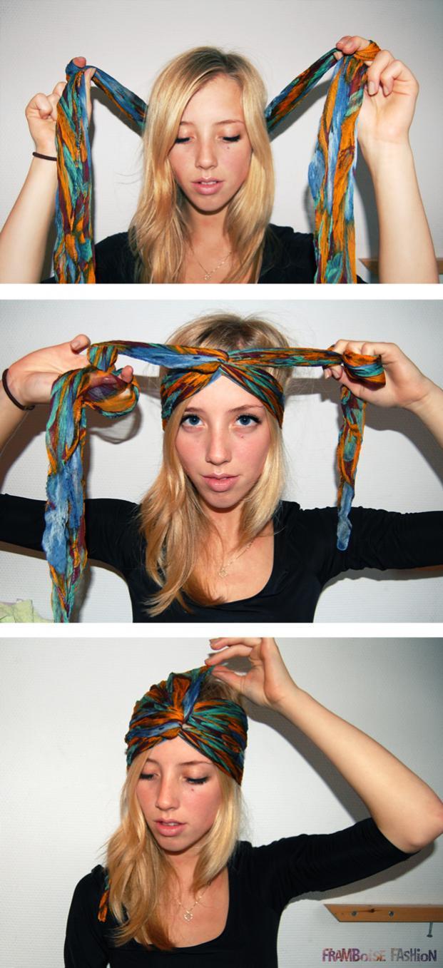 Сделать платок на голову