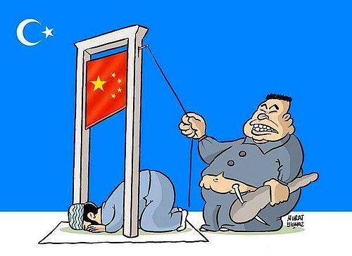 Çin'in Uygurlara Zulüm karikatür ve resimleri ile ilgili görsel sonucu