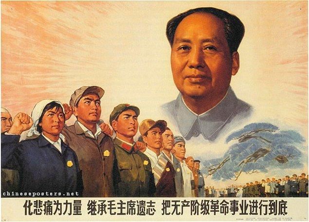 2. Komünist lider Mao Zedung başa geçtiğinde büyük bir tarım toplumu yaratmak istiyordu.