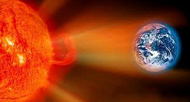 2. Güneş'in yaydığı ısının sebebi reaksiyonlardır.