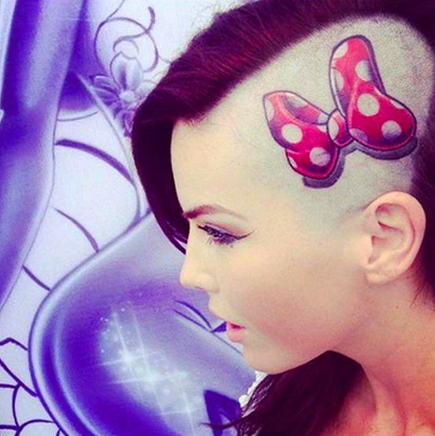 15. Minnie Mouse tarzı.