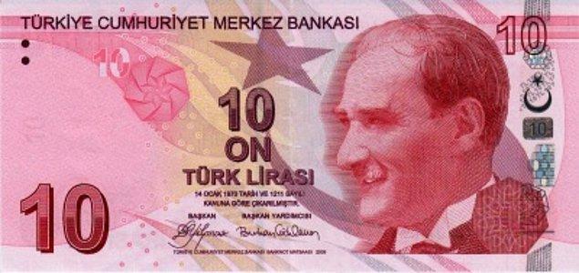 10 lira aldın!