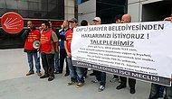 CHP İl Başkanlığı Önünde Açlık Grevi
