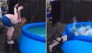 Havuza Atlama Girişimi Hüsranla Sonuçlanan Adam