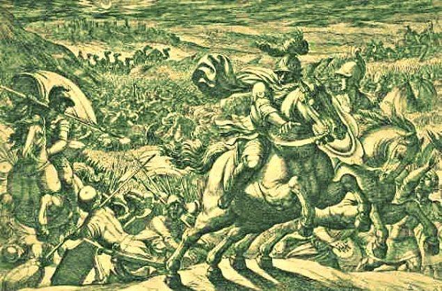 10. Bunu duyan Hussarlar Türkler geldi zannedip kaçar, Hussarların kaçtığını gören piyadelerde kaçışmaya başlar.