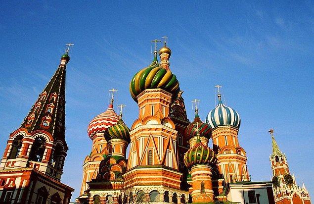 38. Vasily the Blessed Katedrali; Moskova, Rusya