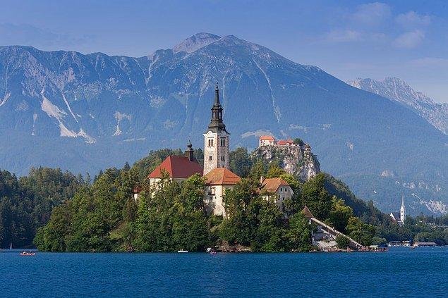 11. Assumption Kilisesi; Bled Gölü, Slovenya