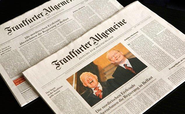 Frankfurter Allgemeine Zeitung (FAZ): Türkiye önde gelen iki gazeteciyi tutukladı