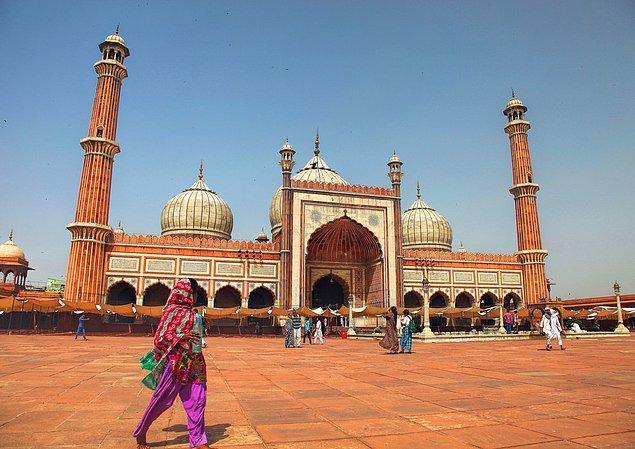 18. Jama Camii; Delhi, Hindistan